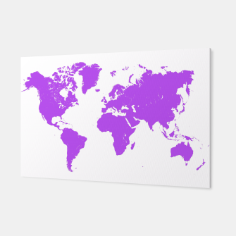Miniaturka  violet map of the world Canvas, Live Heroes