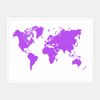 Miniaturka  violet map of the world Plakaty w ramie , Live Heroes