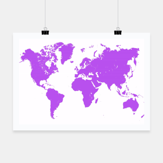 Thumbnail image of  violet map of the world Plakat, Live Heroes