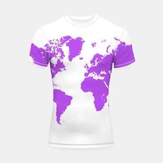 Thumbnail image of  violet map of the world Rashguard Krótki Rękaw, Live Heroes