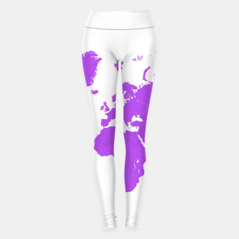 Miniaturka  violet map of the world Legginsy, Live Heroes