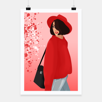 red girl Plakat obraz miniatury