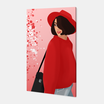 red girl Canvas obraz miniatury