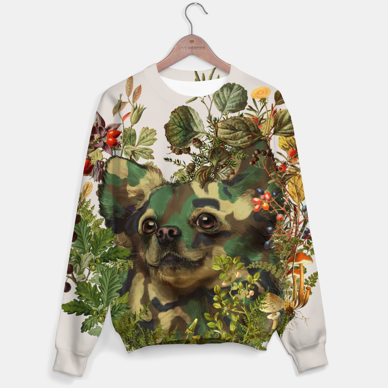 Foto Camo Chihuahua Forest Adventure Sweater - Live Heroes