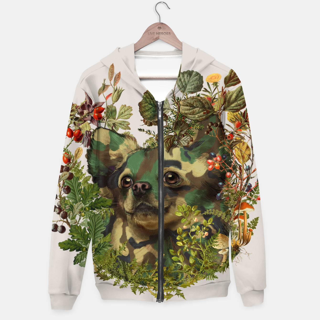 Image de Camo Chihuahua Forest Adventure Hoodie - Live Heroes