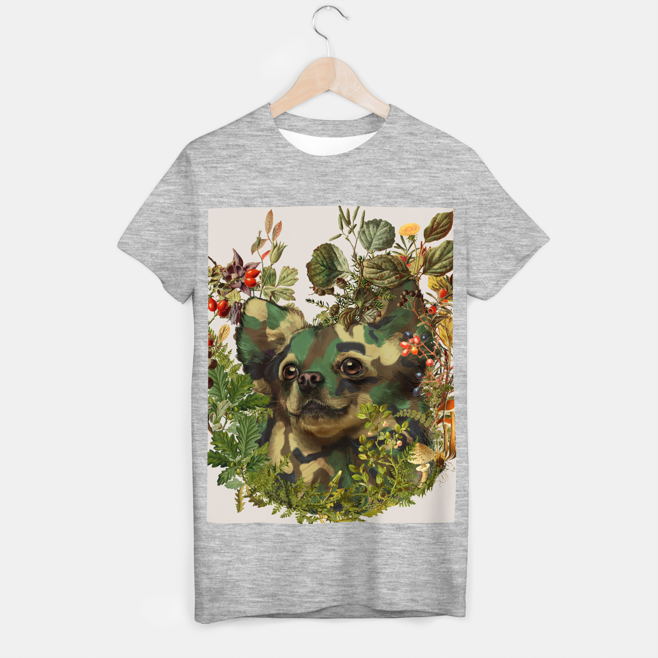 Image of Camo Chihuahua Forest Adventure T-shirt regular - Live Heroes