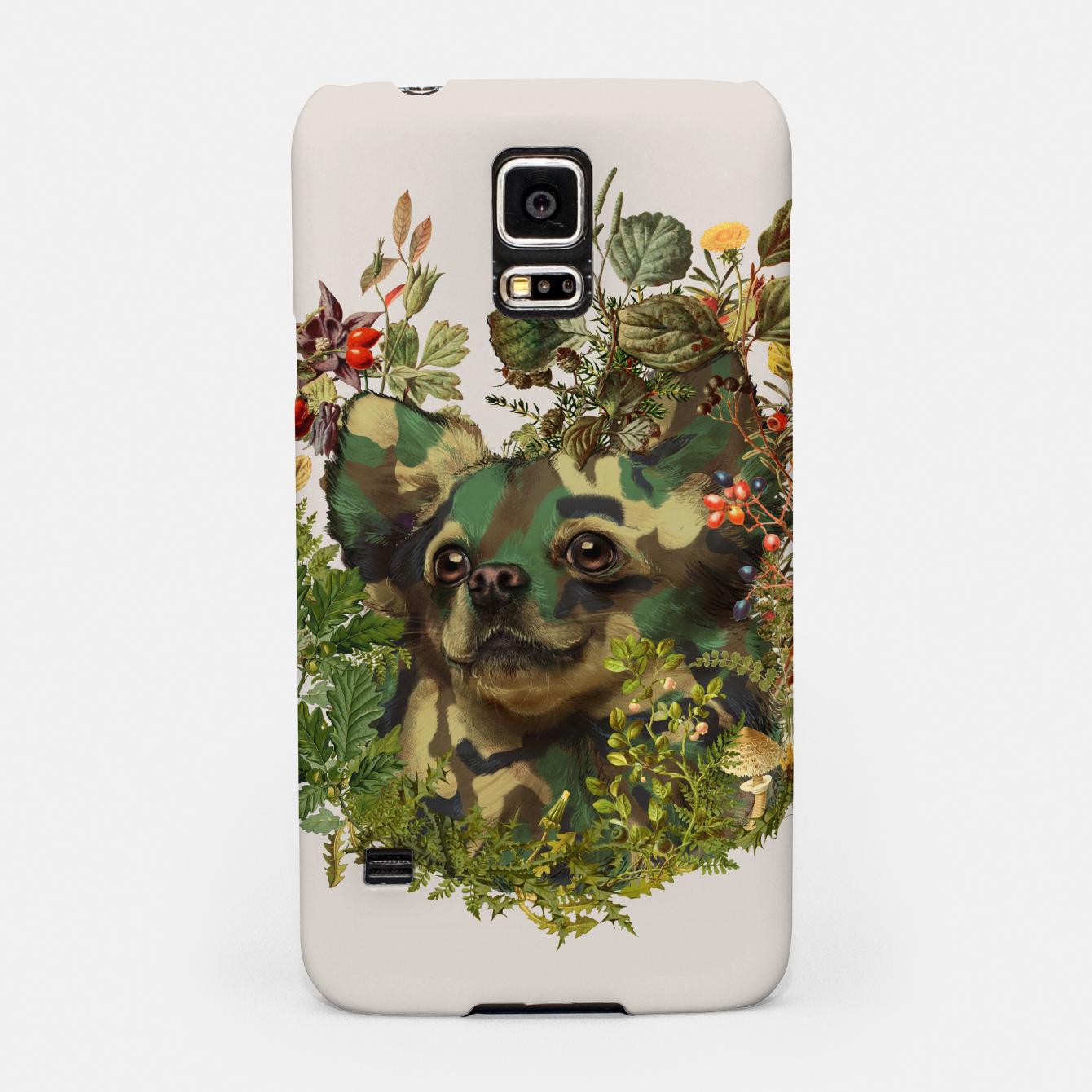 Image of Camo Chihuahua Forest Adventure Samsung Case - Live Heroes
