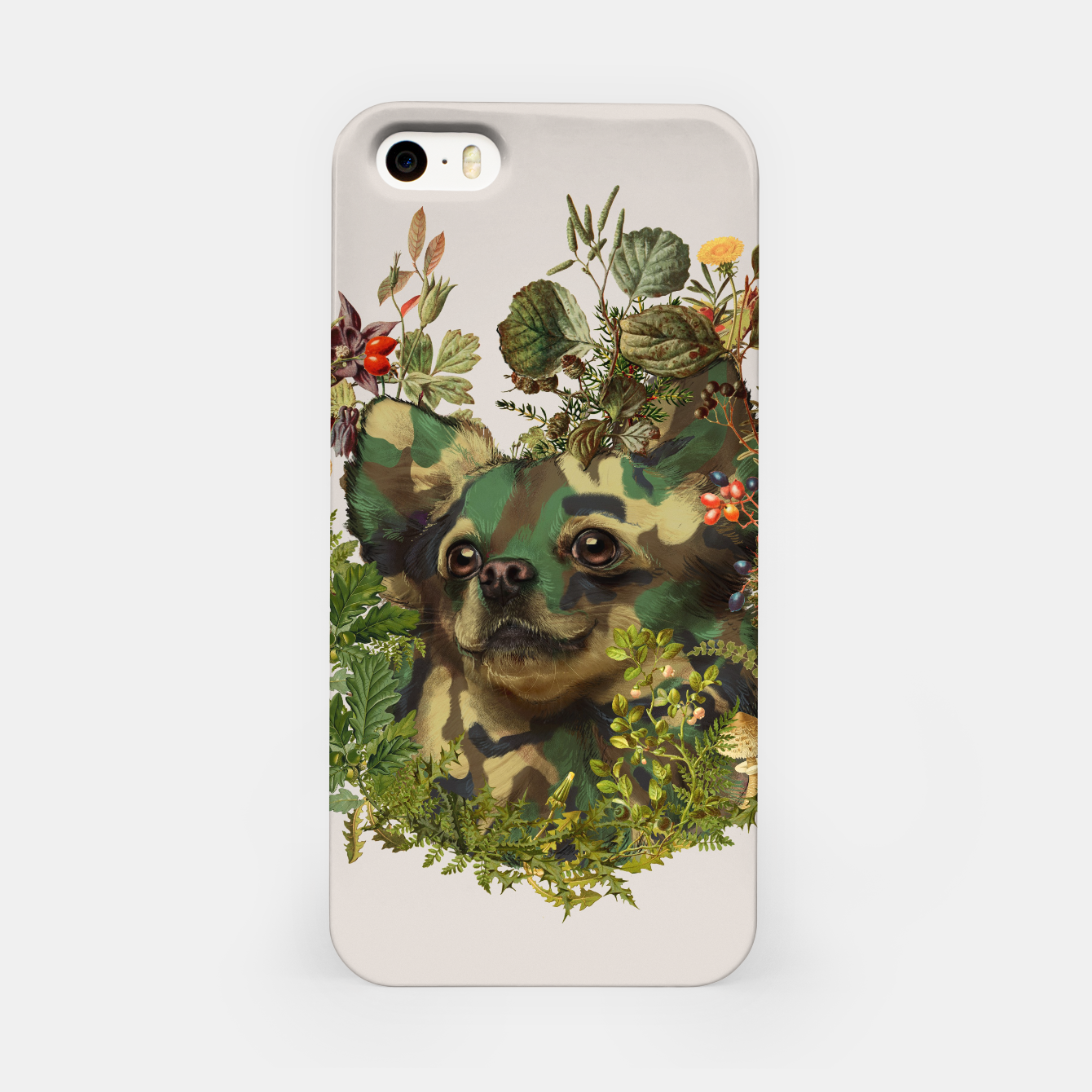 Image de Camo Chihuahua Forest Adventure iPhone Case - Live Heroes