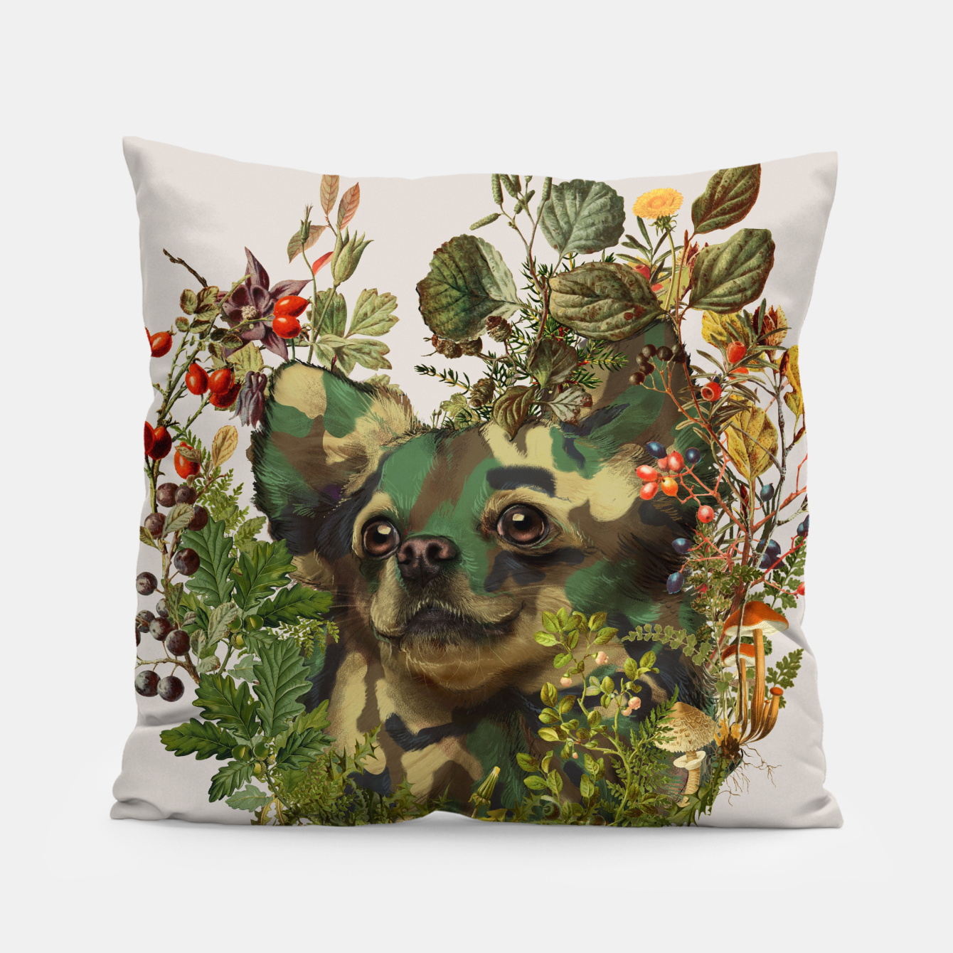 Foto Camo Chihuahua Forest Adventure Pillow - Live Heroes