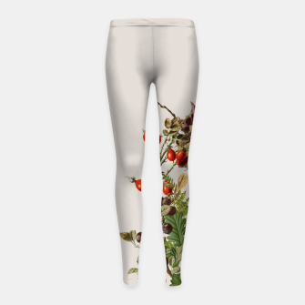 Camo Chihuahua Forest Adventure Girl's Leggings thumbnail image