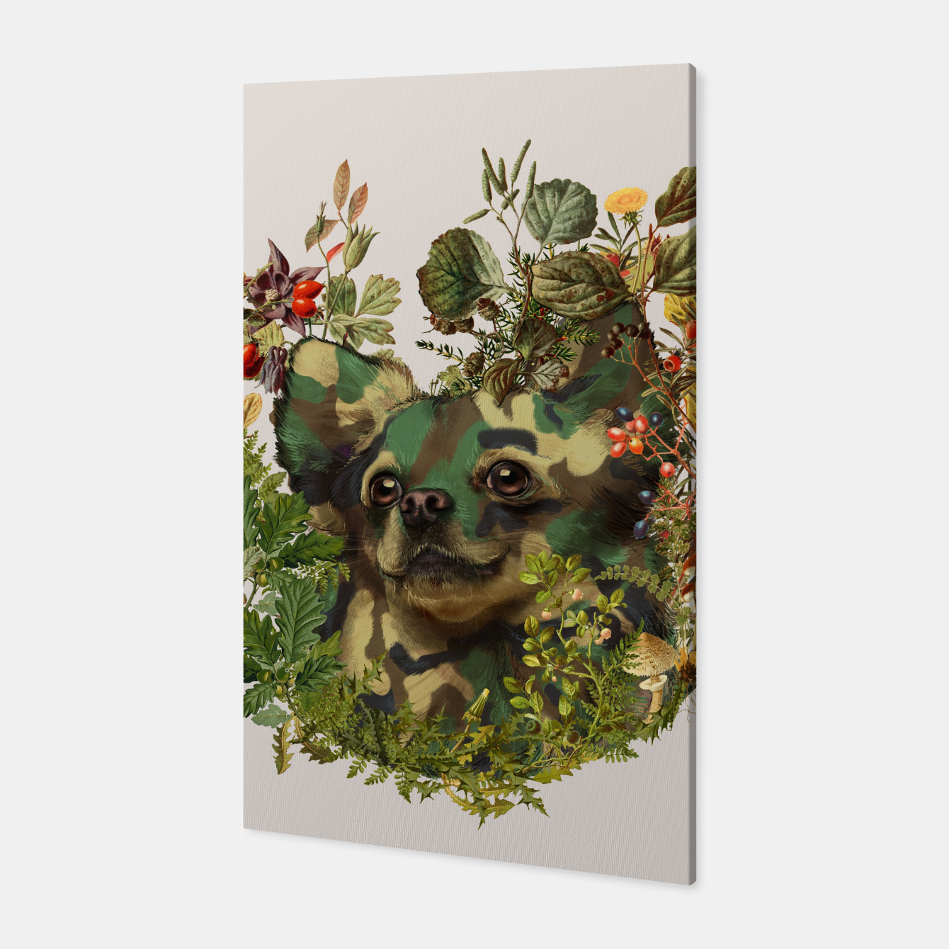Image of Camo Chihuahua Forest Adventure Canvas - Live Heroes