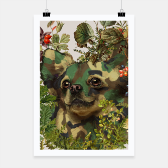Camo Chihuahua Forest Adventure Poster miniature