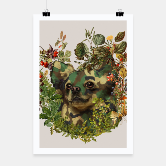 Thumbnail image of Camo Chihuahua Forest Adventure Poster, Live Heroes