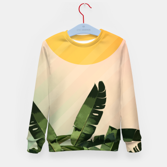 Thumbnail image of Sunny heliconia Kid's Sweater, Live Heroes