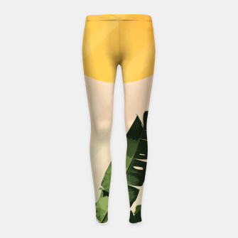 Thumbnail image of Sunny heliconia Girl's Leggings, Live Heroes