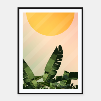 Thumbnail image of Sunny heliconia Framed poster, Live Heroes