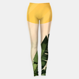 Thumbnail image of Sunny heliconia Leggings, Live Heroes