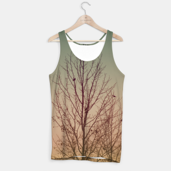 Thumbnail image of Trees and birds silhouette Tank Top, Live Heroes
