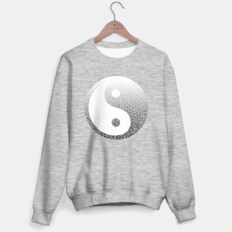Miniatur Ombre black and white swirls doodles Yin Yang Sweater regular, Live Heroes