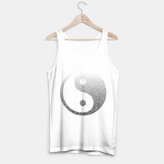 Miniatur Ombre black and white swirls doodles Yin Yang Tank Top regular, Live Heroes