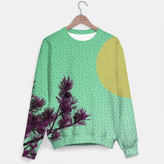Pine tree and purple polka dots Sweater imagen en miniatura