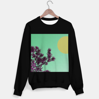 Pine tree and purple polka dots Sweater regular imagen en miniatura