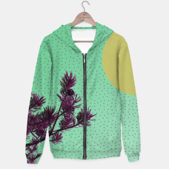 Thumbnail image of Pine tree and purple polka dots Hoodie, Live Heroes