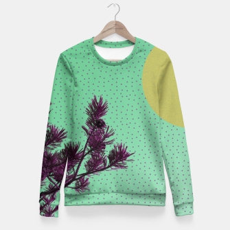 Pine tree and purple polka dots Fitted Waist Sweater imagen en miniatura