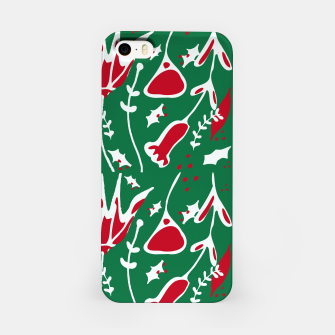 Thumbnail image of winter floral green iPhone Case, Live Heroes