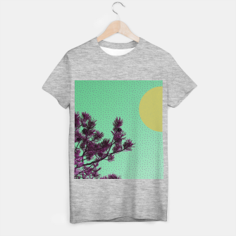 Pine tree and purple polka dots T-shirt regular imagen en miniatura