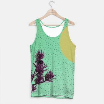 Pine tree and purple polka dots Tank Top imagen en miniatura
