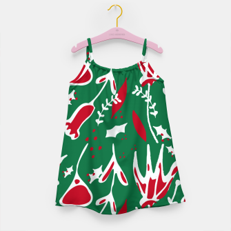 Thumbnail image of winter floral green Girl's Dress, Live Heroes