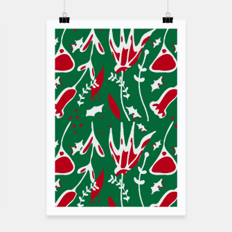 Thumbnail image of winter floral green Poster, Live Heroes