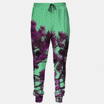 Pine tree and purple polka dots Sweatpants imagen en miniatura