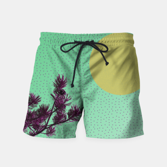 Pine tree and purple polka dots Swim Shorts imagen en miniatura