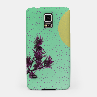 Pine tree and purple polka dots Samsung Case imagen en miniatura
