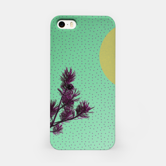 Pine tree and purple polka dots iPhone Case imagen en miniatura