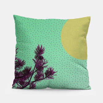 Pine tree and purple polka dots Pillow imagen en miniatura