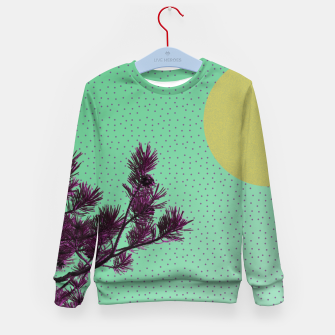 Pine tree and purple polka dots Kid's Sweater imagen en miniatura