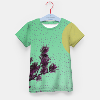 Pine tree and purple polka dots Kid's T-shirt imagen en miniatura