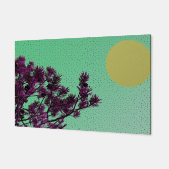 Pine tree and purple polka dots Canvas imagen en miniatura