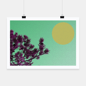 Pine tree and purple polka dots Poster imagen en miniatura