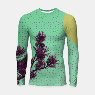 Pine tree and purple polka dots Longsleeve Rashguard  imagen en miniatura