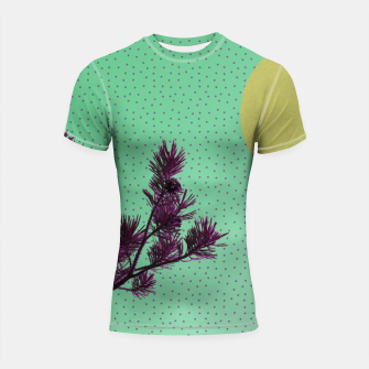 Pine tree and purple polka dots Shortsleeve Rashguard imagen en miniatura