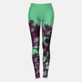Miniaturka Pine tree and purple polka dots Leggings, Live Heroes