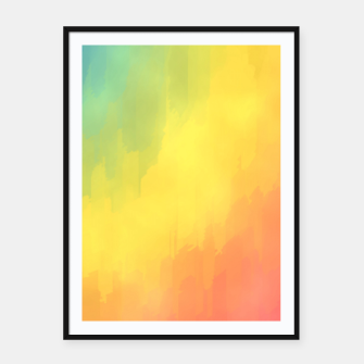 Thumbnail image of Watercolors Fun Framed poster, Live Heroes