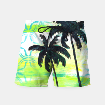 Thumbnail image of Dreamland Palms Swim Shorts, Live Heroes