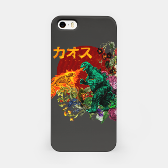Miniatur Kaosu iPhone Case, Live Heroes