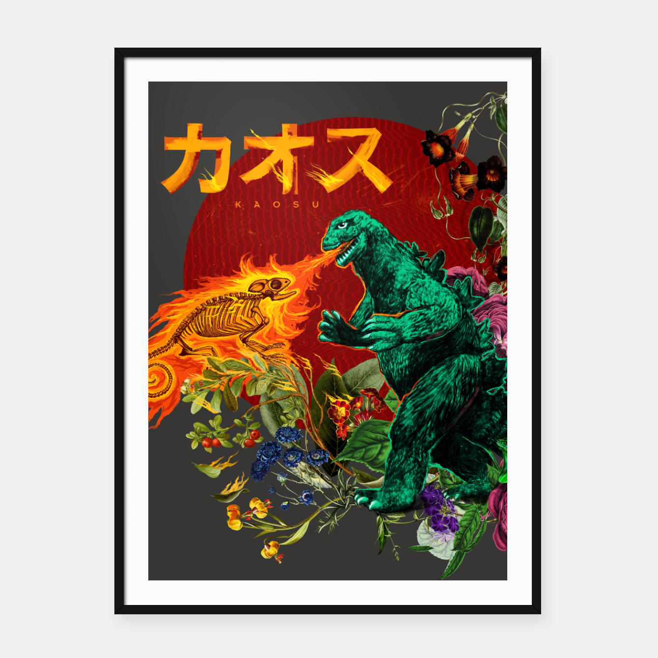 Foto Kaosu Framed poster - Live Heroes