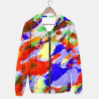 Thumbnail image of camouflage pattern painting abstract background in red blue green yellow brown purple Hoodie, Live Heroes